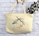 Red Plum Blossoms, Tote Bag (by Anna Hsu)