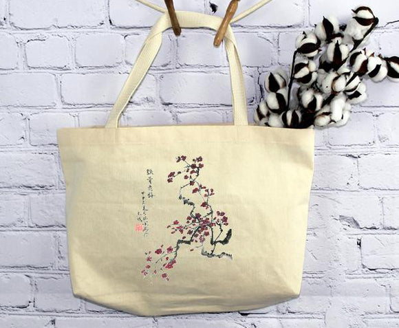 Wintry Blossoms, Tote Bag (by Anna Hsu)