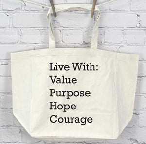 Live With, Tote Bag