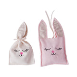 Natural Bunny Satchet Soother and Pink Bunny Satchet Soother