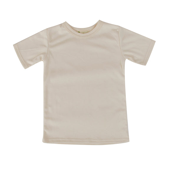 Toddler Tshirt Natural Short Sleeve Crew Neck