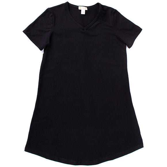 Women's Tshirt Dress, V Neck