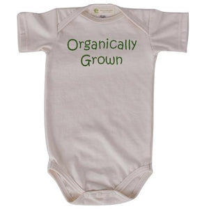Organically grown short sleeve onesie