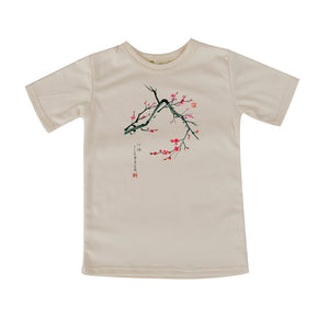 Red Plum Blossoms by Anna Hsu Printed Tshirt, Toddler to Adult