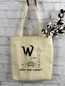 W is For West Side Market, Tote Bag