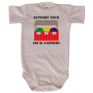 Local farmers short sleeve onesie