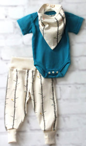 Teal & Birch     ___    (Onesie Set)