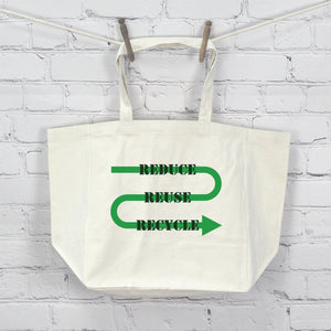 Reduce,Reuse,Recycle Printed Tote Bag