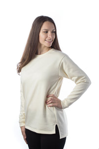 Adult Organic Cotton Crew Neck Sweatshirt