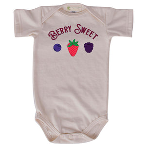 Berry Sweet short sleeve onesie