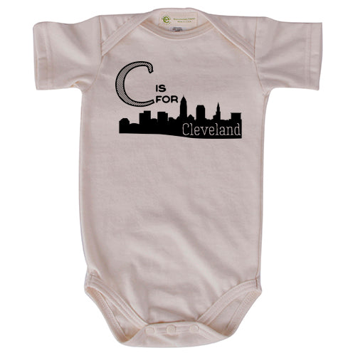 C is for CLE short sleeve onesie
