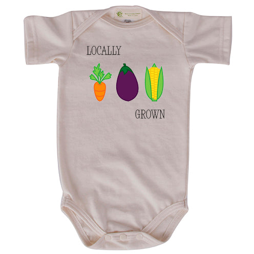 Locally grown short sleeve onesie