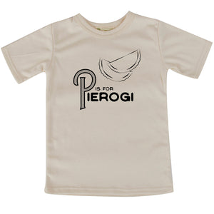 P is for Pierogi short sleeve adult/youth Tshirt