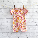 Printed Organic Cotton Romper