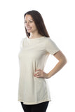 Women's Classic Tunic, Boat Neck in Natural (short sleeve)