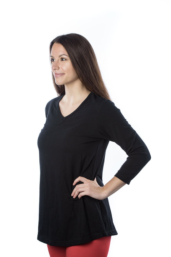 Women's Classic Tunic, V Neck in Night Sky (3/4 sleeve)