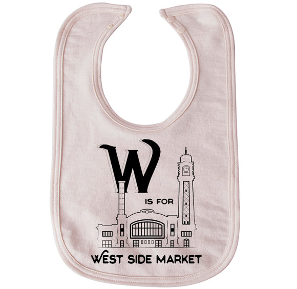 W is for West Side Market Bib