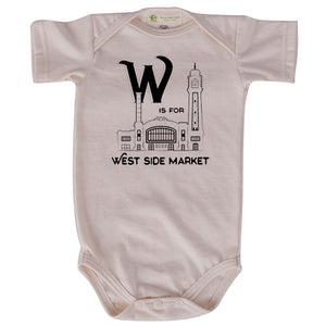 W is for West Side Market short sleeve onesie