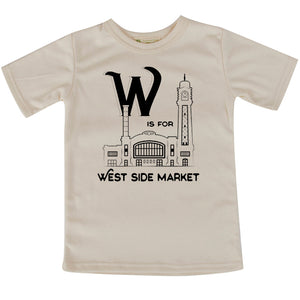 W is for West Side Market short sleeve adult/youth Tshirt