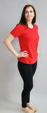 Women's Favorite Tshirt, V Neck in Cardinal Red (short sleeve)