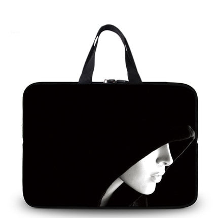 Black Cat Face Laptop Bag