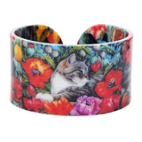 Colorful Vintage Painting Cat Bangle