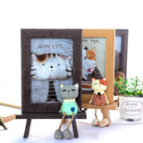 6 inch Lovely Cat Wooden Photo Frame