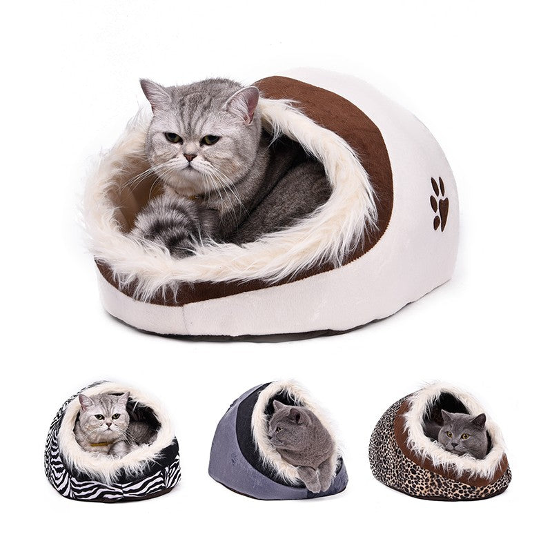 Pet Kennel 4 Colors Super Warm Dog Cat House