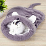 Warm Coral Fleece Cat Sleeping Bag