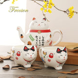 Lucky Cat Porcelain Tea Set