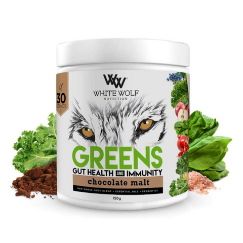 White Wolf Greens + Gut Health and Immunity - Fitness Fanatic Supplements Australia