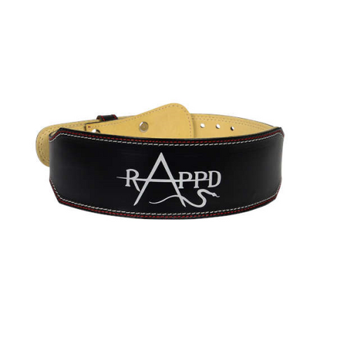 "Rappd 4"" Leather Weight Lighting Belt - Fitness Fanatic Supplements Australia"