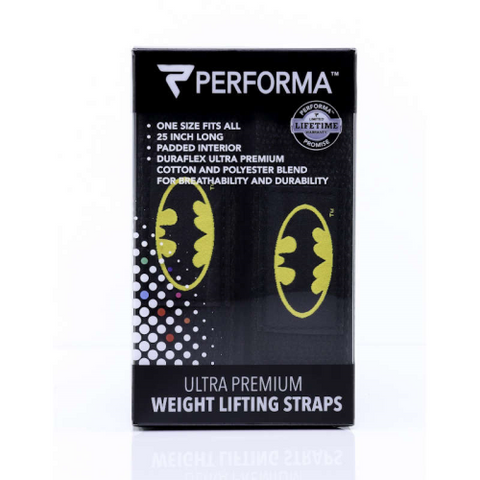 Performa Lifting Straps - Batman - Fitness Fanatic Supplements Australia