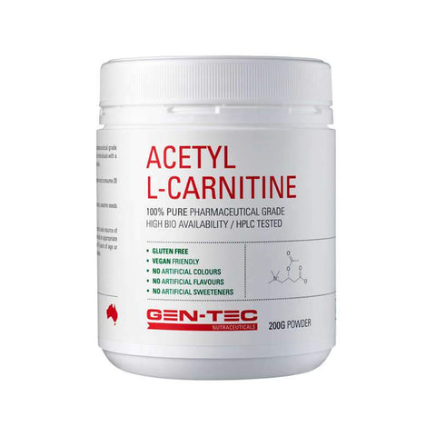 Gen-Tec Nutrition Acetyl L-Carnitine - Fitness Fanatic Supplements Australia