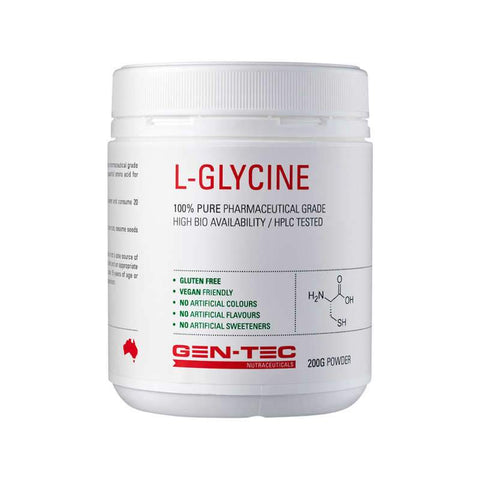Gen-tec Nutrition L-Glycine - Fitness Fanatic Supplements Australia