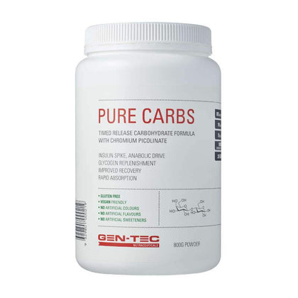 Gen-tec Nutrition Pure Carbs Natural - Fitness Fanatic Supplements Australia