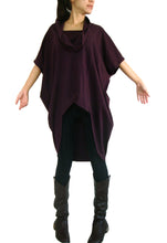 Load image into Gallery viewer, Boho Burgundy Women Oversized Tunic Tops