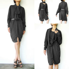 Load image into Gallery viewer, Boho Oversized Women Black Tunic Dress