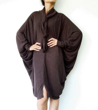 Load image into Gallery viewer, Boho Oversized Extra Large Brown Tunic Dress