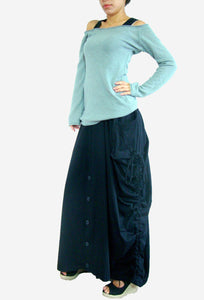 Convertible Maxi Skirt Pants in Lagenlook with Big Pockets