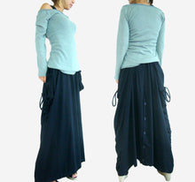 Load image into Gallery viewer, Convertible Maxi Skirt Pants in Lagenlook with Big Pockets