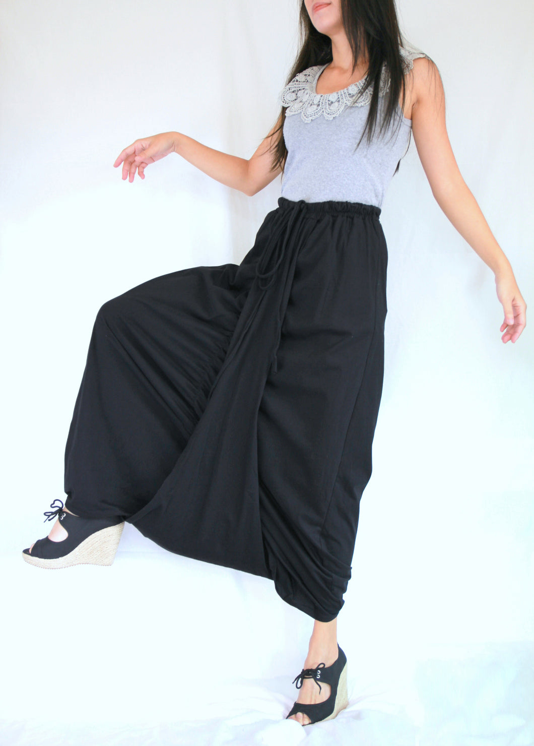 Women Black Sarouel Pants