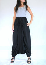 Load image into Gallery viewer, Women Black Sarouel Pants