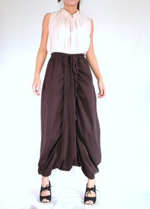 Women Brown Sarouel Pants Unique Festival Pants