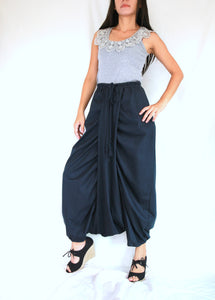 Navy Blue Women Sarouel Pants