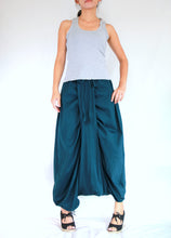 Load image into Gallery viewer, Deep Teal Unique Festival Pants Sarouel Pants