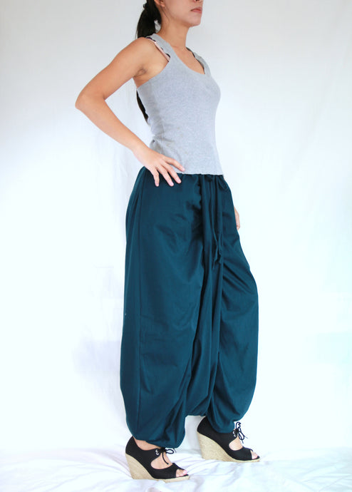 Deep Teal Unique Festival Pants Sarouel Pants