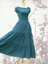 Load image into Gallery viewer, Blue Beach Wedding Dress, Casual Summer Wedding Dress