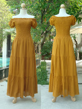 Load image into Gallery viewer, Women Mustard Maxi Dress