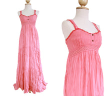 Load image into Gallery viewer, Lace Maxi Dress Sundress - Light Pink